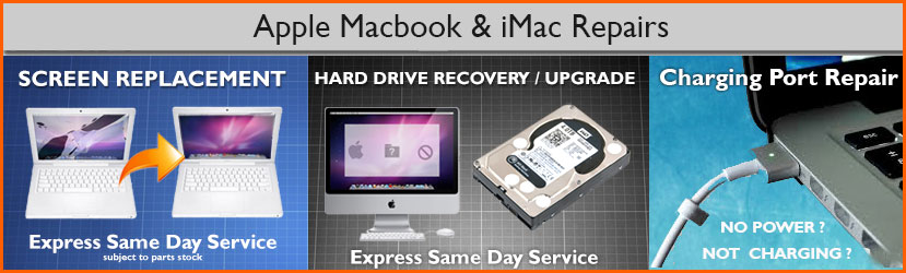 Apple Macbook and iMac Repair, Macbook Screen Replacement,  Apple Magsafe Charging Port Repair